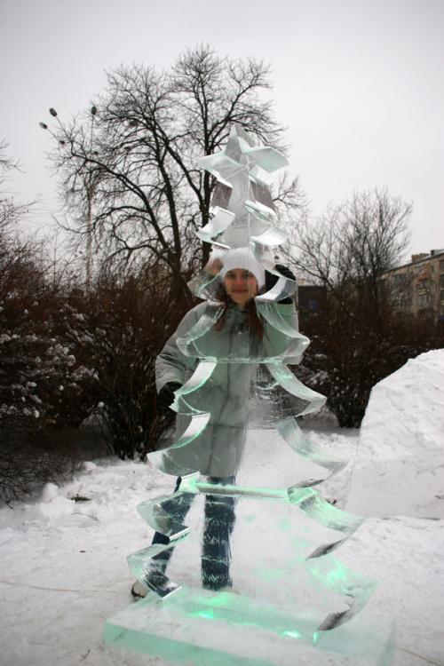 Парк ледяных скульптур в Киеве