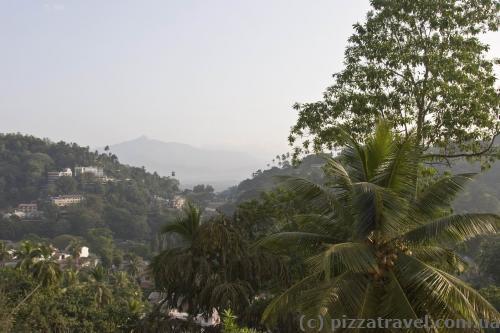Вид из окна отеля в Канди