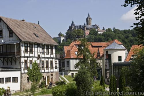 Вид на замок с улицы Am Jaegerkopf