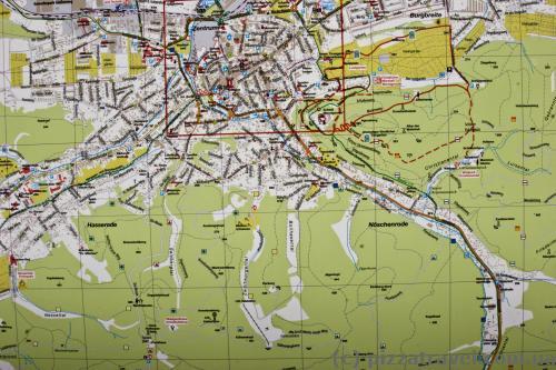 Карта горных троп в Вернигероде