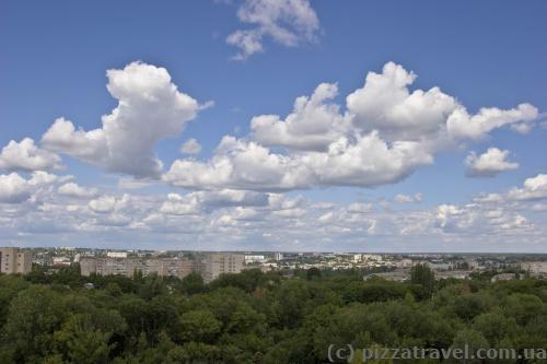 Вид на Кировоград с колеса обозрения