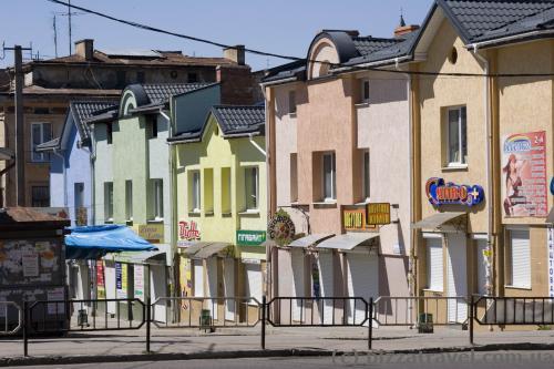 Разноцветные домики в Дрогобыче