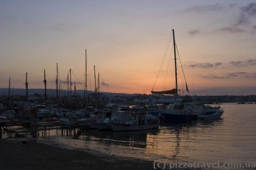 Восход солнца в Пафосе