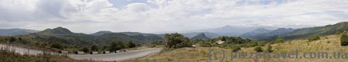 Пейзаж на перевале по дороге в Кахетию