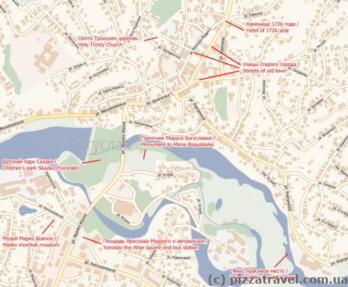 Туристическая карта Богуслава