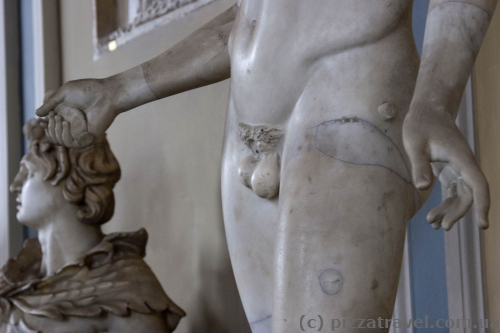 Папа Пий X надругался над всеми мужскими скульптурами в 1857 году.