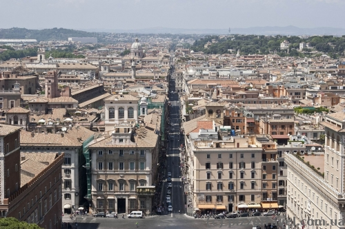 Вид на Рим с Алтаря Отечества