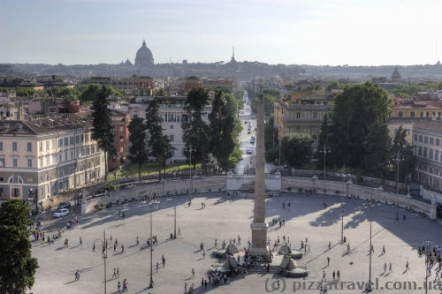 Вид на площадь Пьяцца дель Пополо