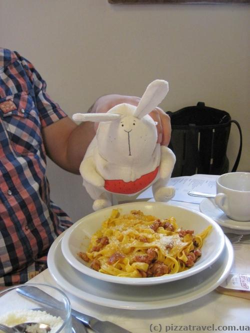 Тальятелли с кроликом :)