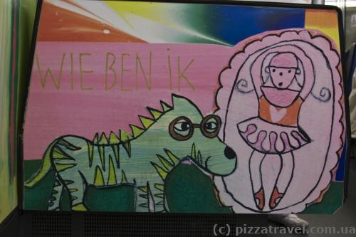 Психоделические граффити в метро Амстердама