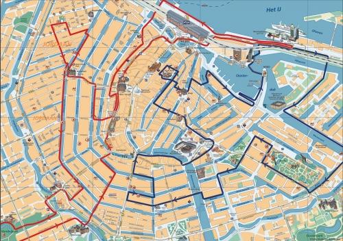 Велосипедные маршруты по Амстердаму