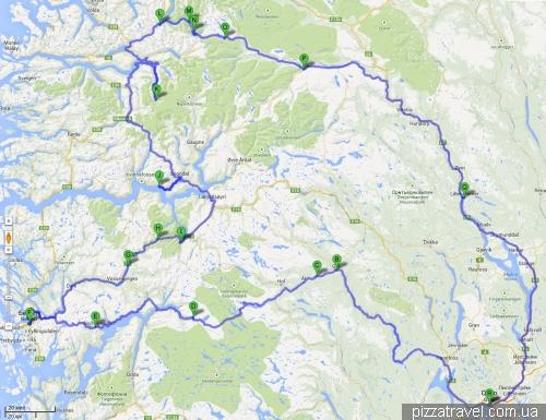 Наш недельный маршрут по Норвегии