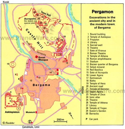 Map of Pergamon