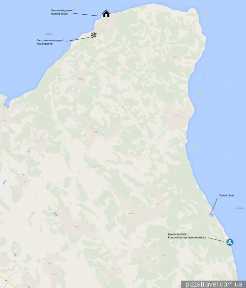 Карта Трахтемировского полуострова