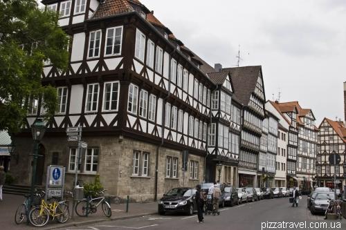 Фахверковые дома 16-17 веков в Ганновере