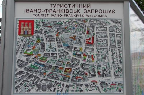 Tourist map of Ivano-Frankivsk