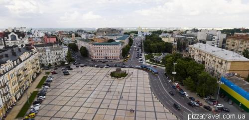 Панорама Софийской площади с Колокольни Софийского собора