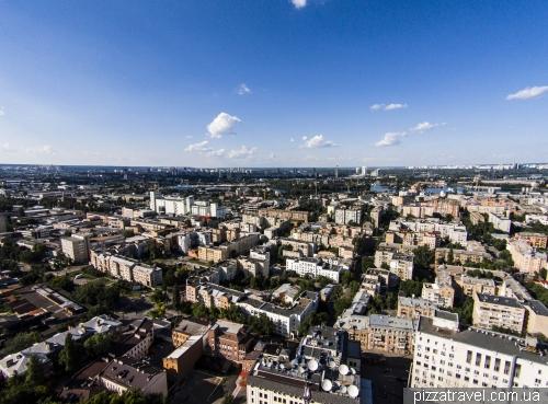 View of Podil region from the Schekavitsa hill