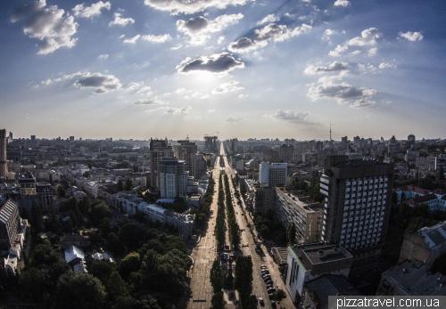 View of the Shevchenko boulevard