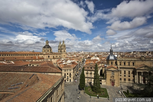 Вид на Plaza de Anaya и университетский собор