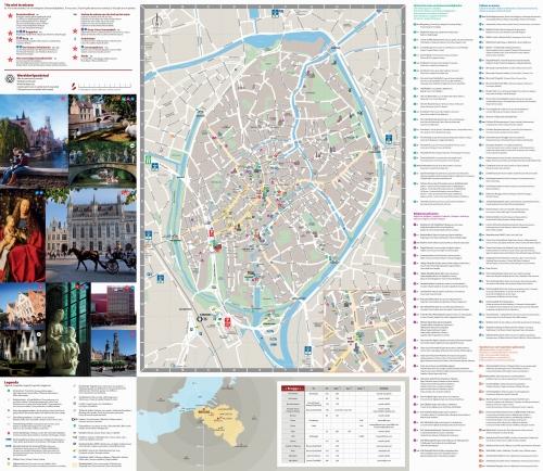 Карта старого города в Брюгге