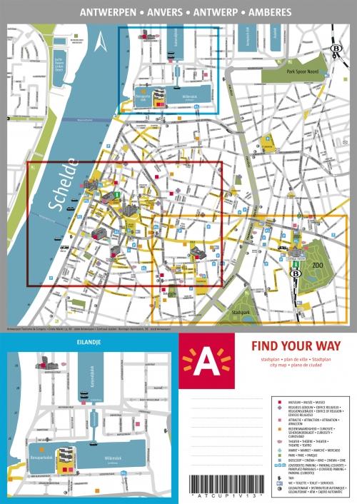 Карта Антверпена