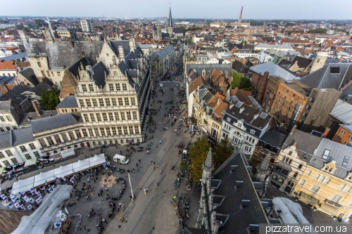 View of the Botermarkt from Belfry