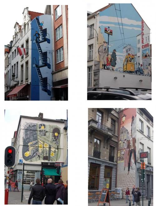 Рисунки в Брюсселе