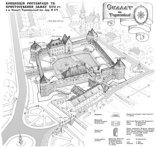 Реконструкція замку в Скалаті