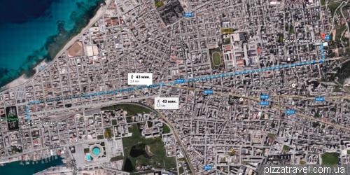 Пішки від канатної дороги в Еріче до автобуса в Палермо