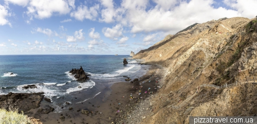 Пляж Бенихо на острове Тенерифе