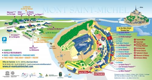 Карта Мон Сен Мишеля