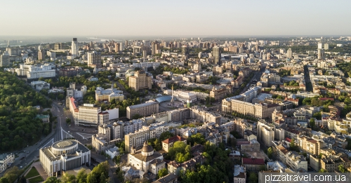 Center of Kyiv, Independence Square and European Square