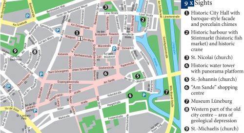 Map of Luneburg