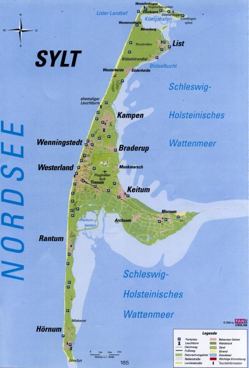 Карта острова Зюльт