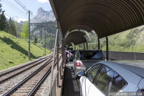 Поезд Kandersteg - Goppenstein