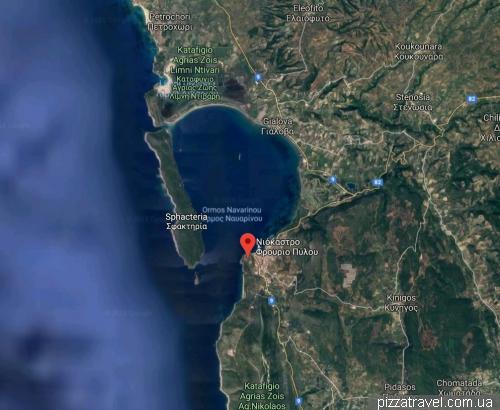 Расположение крепости Пилос