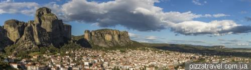 View of Kalambaka and Meteora rocks