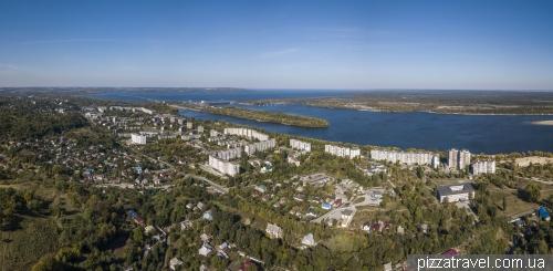Вид на Канев с высоты