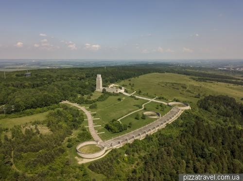 Мемориал Бухенвальда с высоты