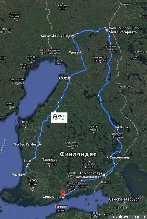 Наш маршрут по Финляндии