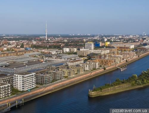 Новий район Uberseestadt в Бремені