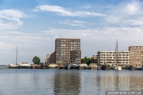 Residential barges in the Ijburg area
