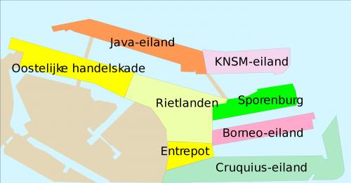 Amsterdam Eastern Docklands neighborhood map