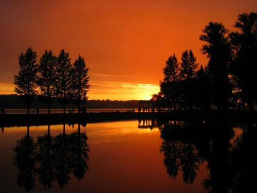 Тернопольский пруд на закате