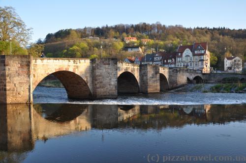 Werrabruecke, один из старейших каменных мостов в Германии