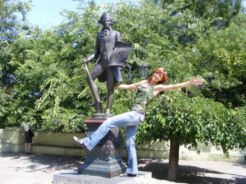 Пам'ятник Дерибасу на початку вул. Дерибасівська