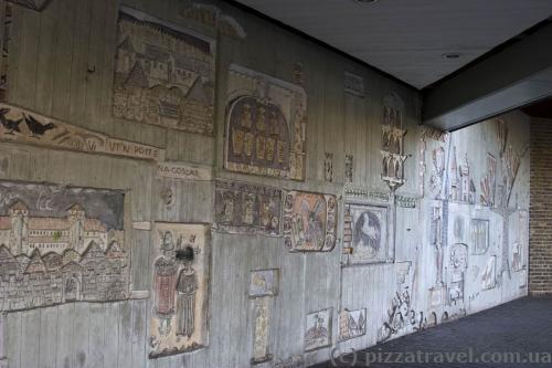Стена в центре Вольфенбюттеля