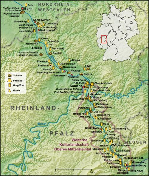 Замки долины Рейна