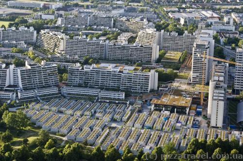 Вид на Мюнхен с телебашни